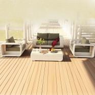 4-Piece PE Rattan Sofa Set: 1 * Loveseat, 2 * Lounge Chair, 1 * Coffee Table (LLS-P43)