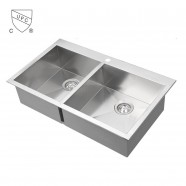 Stainless Steel Kitchen Sink, Double Bowl (DK-SC-DS3218-R0)