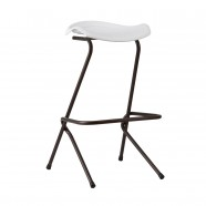 "30.3"" White Height Plastic Bar Stool - Set of 4 (YMG-8113C)"
