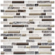 8mm Thickness Electroplated Glass Mosaic Tile - 12 in. x 12 in. (DK-RS234873C1)