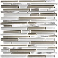 8mm Thickness Electroplated Glass Mosaic Tile - 12 in. x 12 in. (DK-MG10154914AR2)