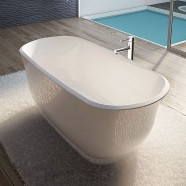 67 In White Acrylic Seamless Freestanding Bathtub (DK-AT-24778W)