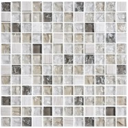 8mm Thickness Electroplated Glass Mosaic Tile - 12 in. x 12 in. (DK-TR23N1)