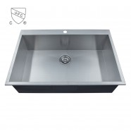 Stainless Steel Single Bowl Handmade Kitchen Sink (DK-SC-AS3322-R0)