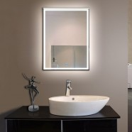 28 x 36 In Vertical LED Bathroom Silvered Mirror, Touch Button (DK-OD-C226)