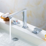 Sink&Bathtub Faucet - Double Lever - Brass with Chrome Finish (83H25-CHR-A)
