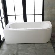 67 In Rectangular Corner Bathtub with Drain - Acrylic White (DK-CV1702)