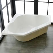 47 In Triangle Drop-in Bathtub - Acrylic Pure White (DK-PW-REALMCB)