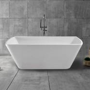 59 In White Acrylic Freestanding Bathtub (DK-YU-27572)