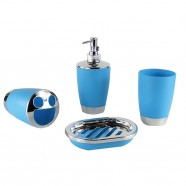 4-Piece Bathroom Accessory Set, Blue Collection (DK-ST010)
