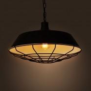 Iron Built Matte Black Vintage Pendant Light (DK-2018-D1A)