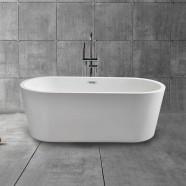 59 In Acrylic White Freestanding Bathtub (DK-MEC3004A)