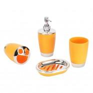 4-Piece Bathroom Accessory Set, Orange Collection (DK-ST011)
