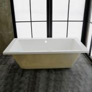 67 In Acrylic White Built-in Bathtub (DK-MEC3057B)
