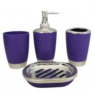 4-Piece Bathroom Accessory Set, Purple Collection (DK-ST012)