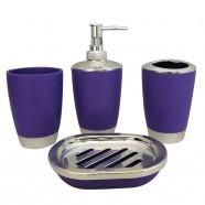 4-Piece Bathroom Accessory Set, Purple Collection (DK-ST012)