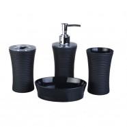 4-Piece Bathroom Accessory Set, Black Collection (DK-ST017)