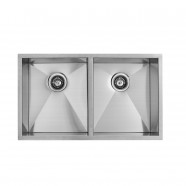 33 x 22 In. Stainless Steel Double Bowl Kitchen Sink (D3322-R0)