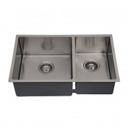 32 x 19 In. Stainless Steel Kitchen Sink, Double Bowl (DDR3219-R10)