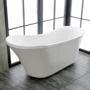 71 In Acrylic Pure White Freestanding Bathtub (DK-PW-K57880)