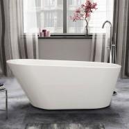61 In White Acrylic Seamless Freestanding Bathtub (DK-1506B)