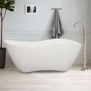 63 In White Acrylic Seamless Freestanding Bathtub (DK-40676)
