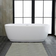 59 In Pure White Acrylic Freestanding Bathtub (DK-PW-5957)