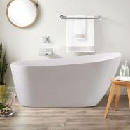 59 In Freestanding Bathtub - Acrylic Pure White (DK-PW-K33572)