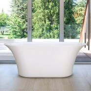 59 In Pure White Acrylic Freestanding Bathtub (DK-PW-60572)