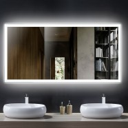 55 x 28 In LED Bathroom Mirror with Infrared Sensor (DK-OD-N031-DG)