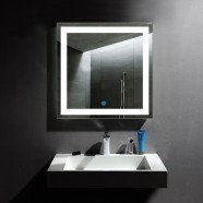 32 x 32 In and Vertical LED Bathroom Mirror, Touch Button (DK-OD-CK010-F)