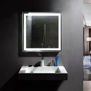 36 x 36 In and Vertical LED Bathroom Mirror, Touch Button (DK-OD-CK168-E)