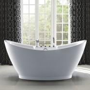 67 In Freestanding Bathtub - Acrylic White (DK-SLD-YG853)