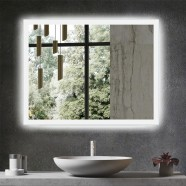 DECORAPORT 36 x 28 Inch LED Bathroom Mirror/Dress Mirror with Infrared Sensor Control, Anti Fog, Dimmable, Vertical & Horizontal Mount (NG13-3628)