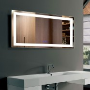 DECORAPORT 40 x 24 Inch LED Bathroom Mirror/Dress Mirror with Touch Button, Anti Fog, Dimmable, Vertical & Horizontal Mount (CT11-4024)