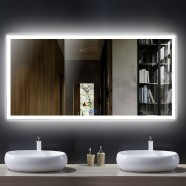 DECORAPORT 55 x 28 Inch LED Bathroom Mirror/Dress Mirror with Touch Button, Anti Fog, Dimmable, Vertical & Horizontal Mount (NT06-5528)