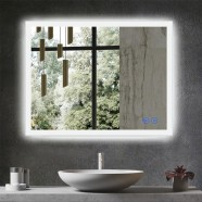 DECORAPORT 36 x 28 Inch LED Bathroom Mirror/Dress Mirror with Touch Button, Anti Fog, Dimmable, Vertical & Horizontal Mount (NT13-3628)