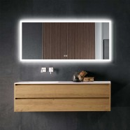 DECORAPORT 70 x 32 Inch LED Bathroom Mirror with Touch Button, Anti Fog, Dimmable, Vertical & Horizontal Mount (NT02-7032)