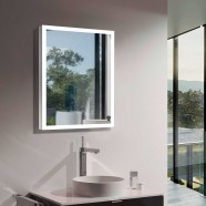 DECORAPORT 24 x 32 In LED Bathroom Mirror with Touch Button, Anti-Fog, Dimmable, Vertical & Horizontal Mount (NT152-2432)