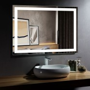DECORAPORT 48 x 36 Inch LED Bathroom Mirror with Touch Button, Anti Fog, Dimmable, Vertical & Horizontal Mount (D207-4836)