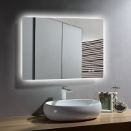 DECORAPORT 36 x 28 Inch LED Bathroom Mirror with Touch Button, Anti Fog, Dimmable, Vertical & Horizontal Mount (AV-3628)