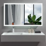 DECORAPORT 48 x 28 Inch LED Bathroom Mirror with Touch Button, Anti Fog, Dimmable, Vertical & Horizontal Mount (D108-4828)