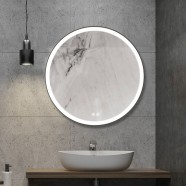 Decoraport 24 x 24 In LED Bathroom Mirror with Touch Button, Anti-Fog, Dimmable, Vertical Mount (D801-2424)