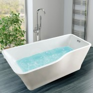 67 In Freestanding Bathtub - Acrylic White (DK-SLD-YG871)
