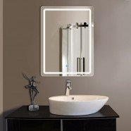 24 x 32 In Vertical Bathroom LED Lighted Mirror, Touch Button (DK-OD-CL140)