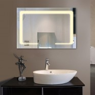 36 x 28 In Horizontal LED Bathroom Mirror, Touch Button (DK-OD-CL129)