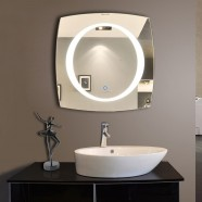28 x 28 In and Vertical LED Bathroom Mirror, Touch Button (DK-OD-N006-A)