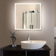36 x 36 In. LED Illuminated Bathroom Silvered Mirror, Touch Button (DK-OD-N031-E)