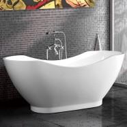60 In Acrylic White Freestanding Bathtub (DK-MEC3159A)