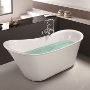 71 In Acrylic White Freestanding Bathtub (DK-MEC3003)